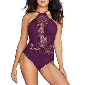 Becca Color Play High Neck Illusion One Piece S